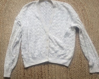 Vintage white cardigan