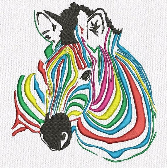 Zebra machine embroidery design size
