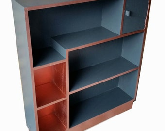 black and copper dislay unit