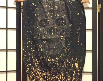 Black Skull Tube Dress -Small