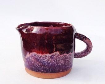 brilliant studio pottery creamer | mini pitcher