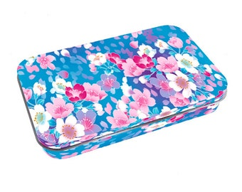 box printed in france fresh blue floral spring