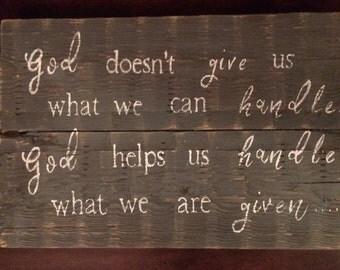 God gives us sign