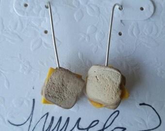 Grilled cheese dangle earrings-GCD1