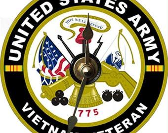 Vietnam War Vets Verterans Army Marines Navy Military CD Clocks