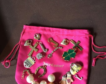 Juicy Couture Charms with Pouch