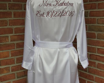 Personalized Gold Foil - Bridal Party Cotton Lace Robes – Celebrate Party  Chaos
