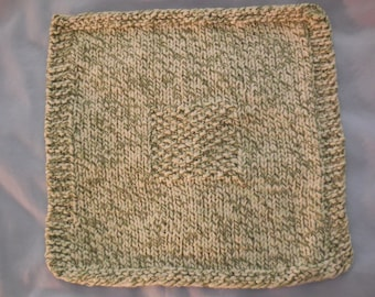 Green speckled dishcloth