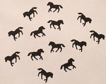 200 Black Horse Confetti Black Pony Confetti Horse Party Pony Party Black Confetti Birthday Confetti Horse Confetti Pony Birthday Black