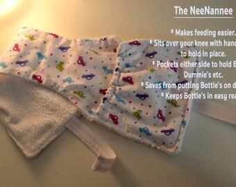 Baby Bottle, Bib & Burb Cloth Holder The Neenannee