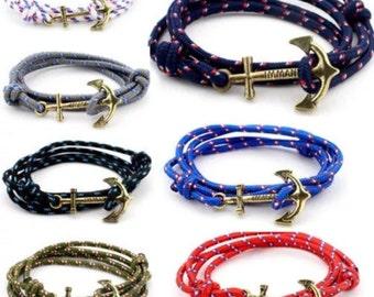 Bungee Cord Anchor Wrap-Around Bracelet
