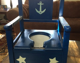 Nautical vintage potty chair