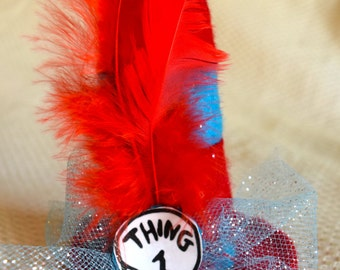Thing 1 and Thing 2 Skinny Mini Top Hat!  Dr. Seuss, Cat in the Hat, Read Across America, Baby's 1st Birthday,  Costumes, Photo Prop
