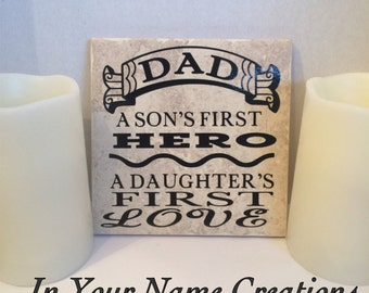 Personalized Tiles - Dad Tile- Father's Day- Birthday Gift for Dad