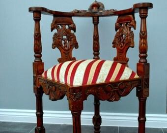 Antique style corner chair
