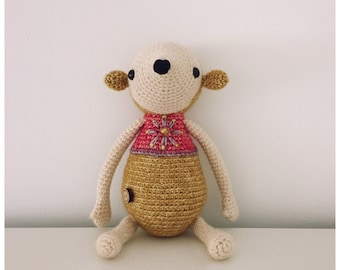Mouse soft toy, crochet toy, cotton stuffed toy, softie, plushie
