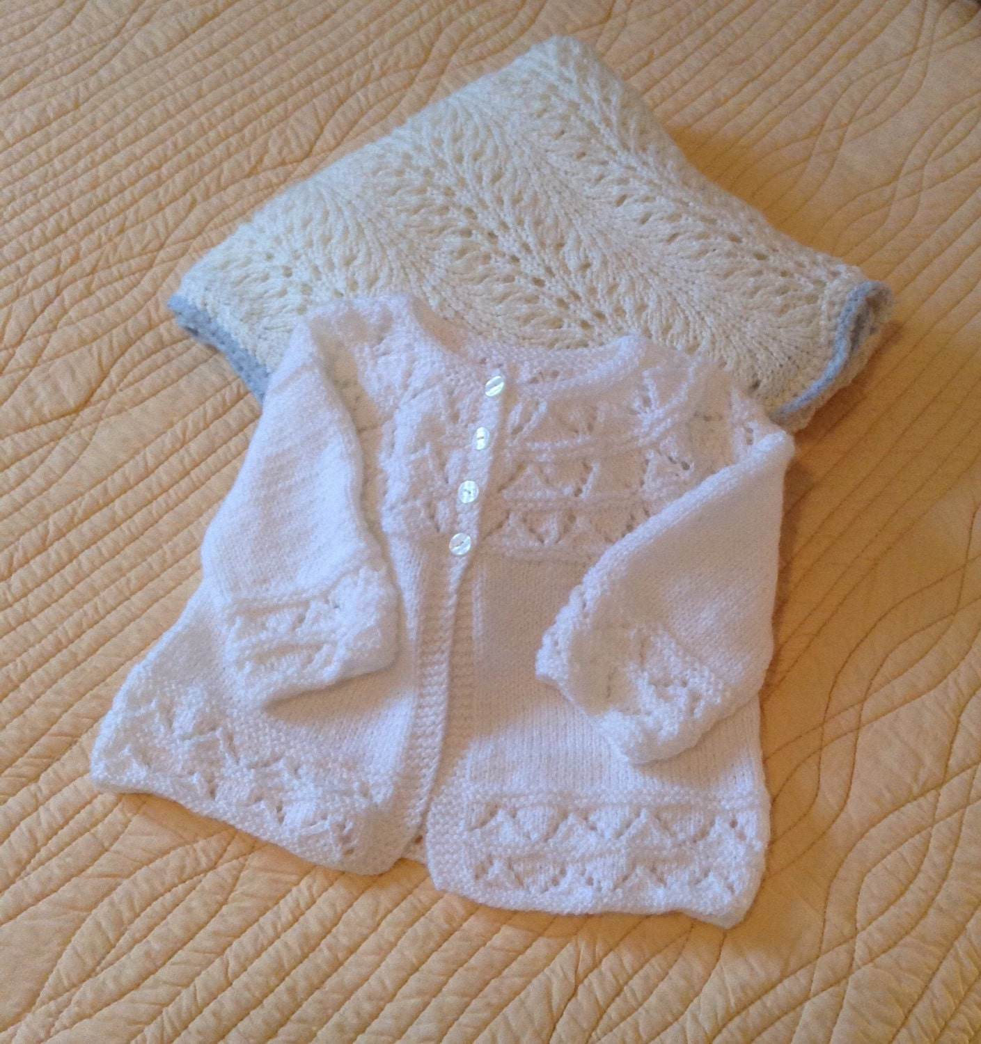 Hand knit baby blanket hand knit baby sweater knitted baby