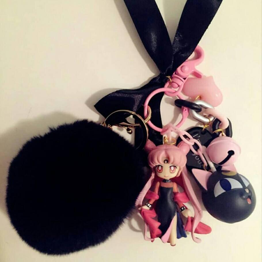 Black Lady Chibiusa Chibi Moon Key Chain Sailor Moon Series