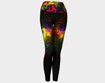 Rainbow yoga leggings, activewear, pilates leggings,  printed leggings, workout clothing, leggings yoga, yoga pants, womens leggings