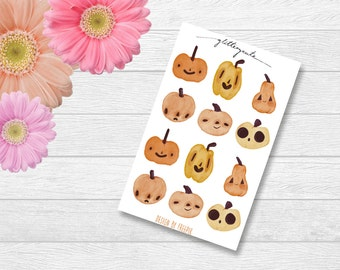 Pumpkins Halloween Watercolor Planner Stickers