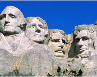 historic Mt. RUSHMORE poster PRESIDENTIAL portraits in stone US memorial 24X36