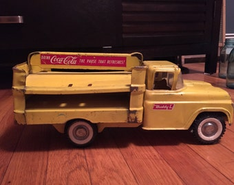 Vintage Buddy L Yellow Coca-Cola Toy Truck