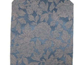Three Blue Floral placemats-blue grey- more made to order