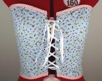 Candy Stripe Cotton Corset