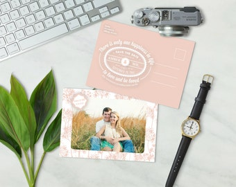 Printable 'Southern Charm' Save the Date Post Card (Digital File)