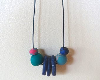 Handmade Polymer Clay Beaded Necklace