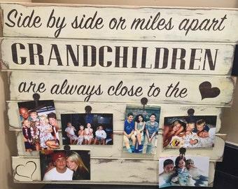 Grandkids wood sign with personalization