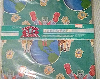 MIP 1992 Captain Planet wrapping paper