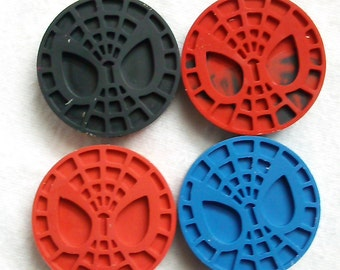 Recycled Crayons - Spiderman Inspired Crayon - Children Birthday Party Favor Gift - Set of 4