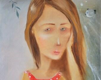 Dreaming girl 35 x 45 cm