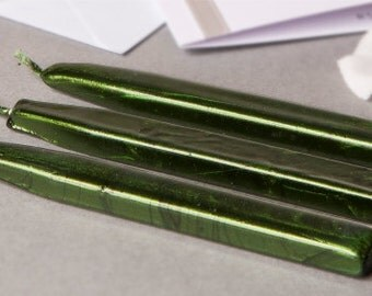 Pearl Moss Green Sealing Wax (Traditional Candle & Glue Gun Stick)