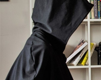 Black Cloak with Pointed Hood