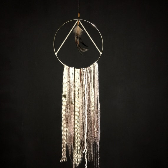 Dream Catcher Gold Hoop Tapestry Feathers And By