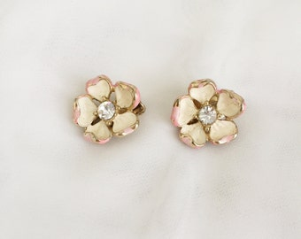 Pink Petal Statement Earrings
