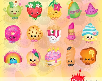 Voucher code buy1get1 Cute foods and things Digital Clipart for Personal Use / INSTANT DOWNLOAD