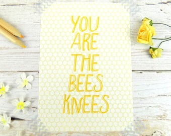 Bees Knees Cute Bee Quote Stationary Postcard