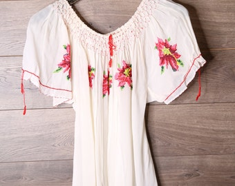 100% Rayon Embroidered Blouse