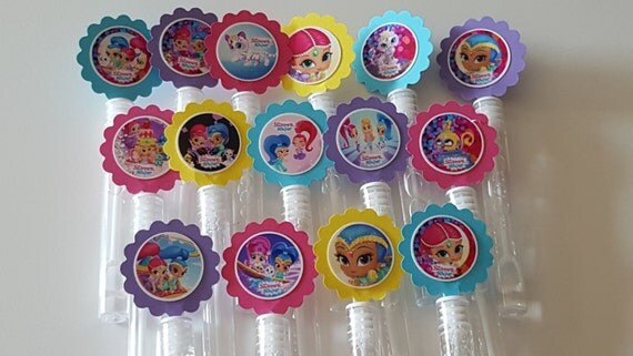 Shimmer and shine mini bubble wands birthday party favors set for Mini bubble wands
