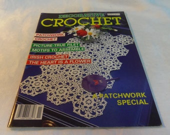 Decorative Crochet Magazine #11 Sept. 1989 Doilies, Tablecloth, Bedspread, Mats etc.