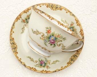 EMPRESS ROSARIO Tea Cup and Saucer. Vintage Made in Japan, Empress China