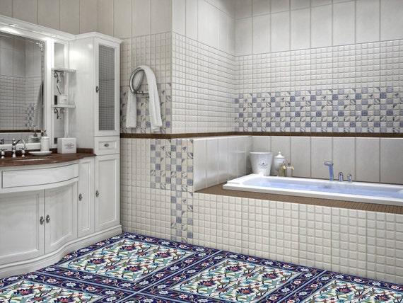 Laminato in vinile adesivi azulejos turco portoghese - Piastrelle in laminato ...