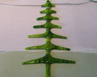 Spring Green Fused Glass Tree