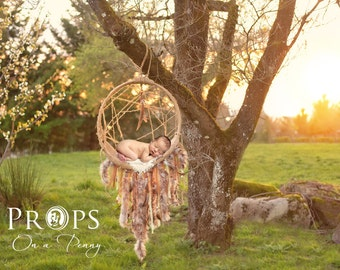 Newborn Dreamcatcher Prop, Newborn Prop, Digital backdrop