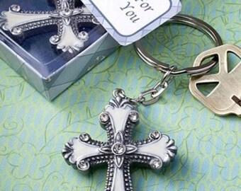 Cross design keychain favors, 30