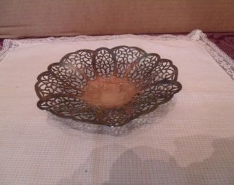 Lovelace Silver Plated Footed Candy Dish by International Silver