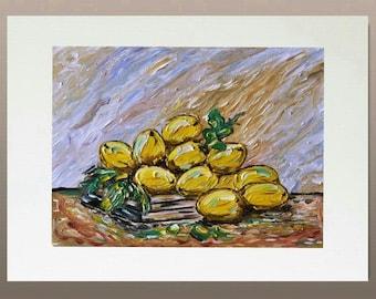Master Art Print - Lemon and Books